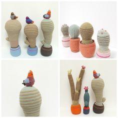 hæklet kaktus med detaljer