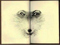 Desenho de um domingo à tarde! Dibujo de uno domingo por la tarde! A Sunday afternoon drawing!  Raposa, Zorro, Fox ;)!