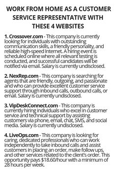 Work From Home As A Customer Service Representative With These 4 Websites - Customer Service - Ideas of Selling A Home Tips - Work From Home As A Customer Service Representative With These 4 Websites Wisdom Lives Here Ways To Earn Money, Earn Money From Home, Earn Money Online, Money Saving Tips, Way To Make Money, Money Tips, Legit Work From Home, Work From Home Jobs, Customer Service Representative