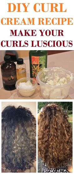 If you have wavy or curly hair this DIY curl cream recipe will work perfect for you!