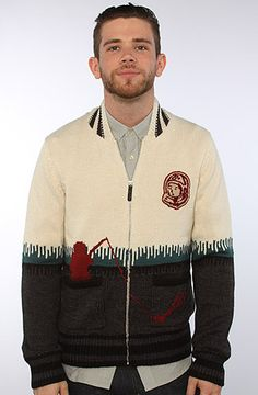 The Fisher Cardigan Sweater in Sheer Fern by Billionaire Boys Club