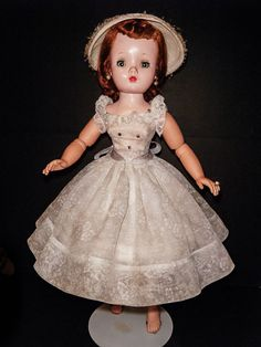 "Vintage 20"" Madame Alexander Doll Cissy Original Tagged Dress Great Garters"