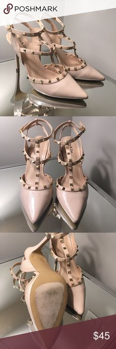 Valentino Knockoff Studded Heels Look just like the signature nude studs from Valentino! Only worn once to an interview, and never wear them now. Like new with small signs of wear on the bottoms. Shoes Heels