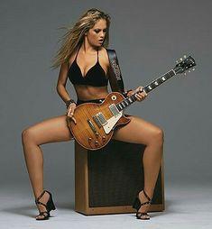 Guitar Girl, Music Guitar, Gibson Sg, Heavy Metal, Musician Photography, Bedroom Photography, Gal Gabot, Guitar Photos, Women Of Rock