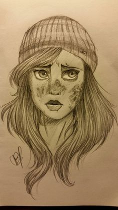 I think Ashley from Until Dawn is super adorable! Later I think I'll ink and color it *Credit To Artist*