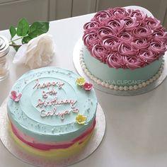 Rustic and rose cake