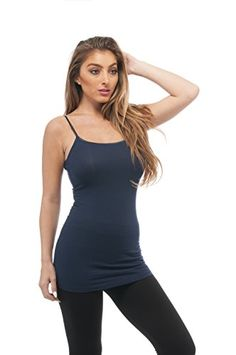 Active USA Basic Women's Basic Cami Tank Top (Navy Blue) - http://our-shopping-store.com