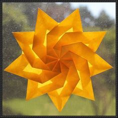 Nonagon the Nine-Sided Twist Star Origami Tutorial