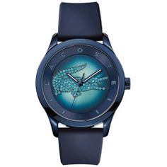 Lacoste Women's Victoria Turquoise Dial Silicone Strap Watch - Blue