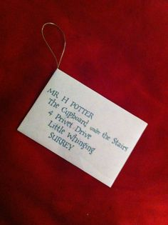 Harry Potter Acceptance Letter Christmas Ornament on Etsy, $5.88