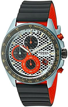 Fossil Mens Sport 54 Chronograph Gunmetal Silicone Watch -- For more information, visit image link. Workout Accessories, Fitness Accessories, Fossil Watches For Men, Extreme Couponing, Discount Clothing, Chronograph, Pink Sweater, Mens Sweatshirts, Fitness Inspiration