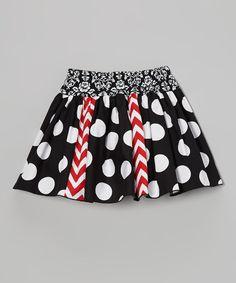 Black Polka Dot Skirt - Toddler & Girls by Wonder Me #zulily #zulilyfinds