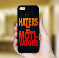 Nike Haters Motivators, iPhone Case Cover, Art Design For iPhone 4 Case, iPhone 4S Case, iPhone 5 Case. $17.99, via Etsy.