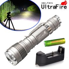 Ultrafire-5000LM-CREE-XM-L-T6-LED-Flashlight-Torch-Zoomable-Light-18650-Charger £5