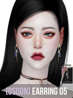 TS4 Osoon — [Osoon] Earring 05 6 Swatches New Mesh Custom...
