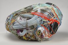 Judith Scott–Bound and Unbound, Untitled, 2004, Fiber and found objects. The Smith Nederpelt Collection