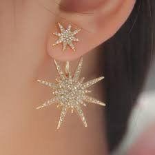 Snowflake Crystal Stud Earrings - PureSkintology - 1
