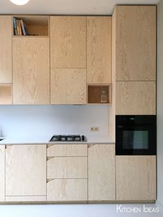 Simple plywood cabinetry, cut corner handles