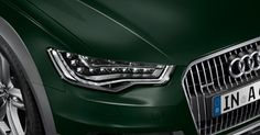 Paintwork: Deep Green pearl effect.    Available from M25 Audi:  www.m25audi.co.uk/newcars/a6/a6-allroad.html