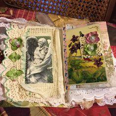 Sweet Blessings, Gratitude Journal, Prayer Journal, Shabby Chic journal, lace…