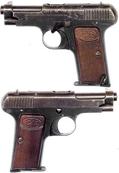 ITALIAN Model 1915 semiautomatic pistol  Cal.32 ACP. Mfg. by Beretta in 1915. The very first Beretta semiauto. Loading that magazine is a pain! Get your Magazine speedloader today! http://www.amazon.com/shops/raeind