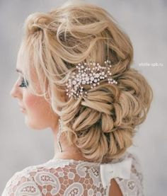 12 Most Elegant And Beautiful Wedding Hairstyles ❀ Bridal Hairstyles For Long Hair Tutorial Elegant Wedding Hair, Short Wedding Hair, Trendy Wedding, Wedding Trends, Wedding Ideas, Bridal Hair Updo, Bridal Hair Pins, Best Wedding Hairstyles, Hairstyle Wedding