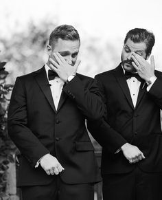 The Double Tear Wipe. Peter seeing his soon-to-be wife walk down the aisle. #texaswedding #blacktiewedding #austinweddingphotographer #austinweddingphotography #texasweddingphotography #centraltexasweddingphotographer