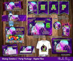 Zombie Birthday Parties, Zombie Party, Disney Birthday, 7th Birthday, Birthday Board, Toddler Girl Gifts, Zombie Disney, Party Kit, Party Ideas