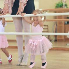 Baby Girl in Ballet Class