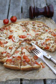 Experimente aus meiner Küche: Thunfisch-Fladenbrotpizza