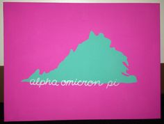 Made this for my little for initiation into Gamma Alpha chapter of AOII