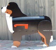 Dog Mailbox ~ Unique Dog Mailboxes shaped like specific Dog breeds. Our Dog Mailboxes can be custom painted to look like your Dog I Love Dogs, Cute Dogs, Mountain Dog Breeds, Dog Information, Puppies And Kitties, Bernese Mountain, Dog Paws, Dog Accessories, Dog Gifts