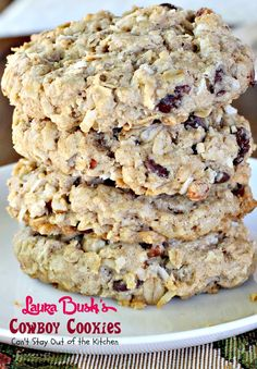 Laura Bush's Cowboy Cookies These are fabulous oatmeal cookies!