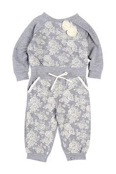 Long Sleeve Top & Pant Set (Baby Girls) by Weavers on @nordstrom_rack
