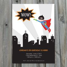 Flyer Birthday Flyer, Superhero Birthday Invitations, Superhero Birthday Party, Girl Birthday, Party Like Its 1999, Personalized Invitations, Diy Party, Party Ideas, Student Gifts