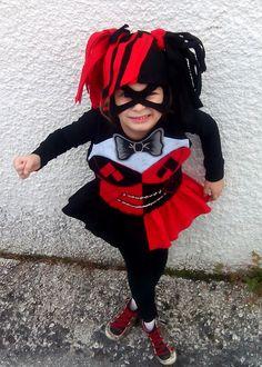 da401bc772b Harley quinn costume, Lego Harley quinn Costume Halloween, Lego Harley  quinn Toddler Pretend Dress