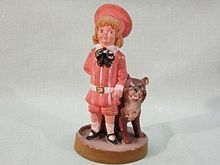 Buster Brown and Tige Advertising Figurine Bisque