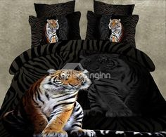 New Arrival High Quality Skin Care Tiger 3D Print 4 Piece Bedding Sets  @bedding inn