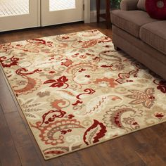 Better Homes and Gardens Paisley Spice Textured Print Area Rug
