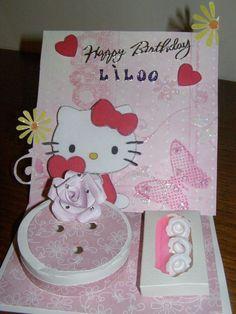 carte anniversaire gateau fille