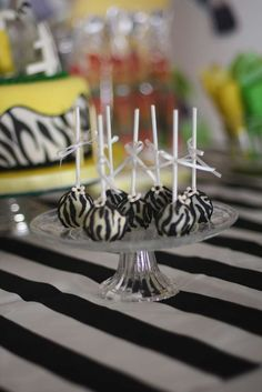 zebra Birthday Party Ideas | Photo 9 of 14 | Catch My Party