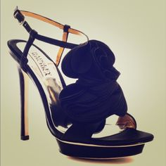 "Badgley Mischka ""Randee"" Black Satin Sandals Beautiful! In great condition. Only worn a few times! Badgley Mischka Shoes Heels"