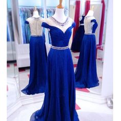 Royal Blue Prom Dress Evening Party Gown pst0797