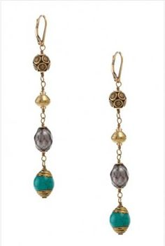 No. 626 - Linear Multi Beaded Earrings from mariechavez.com