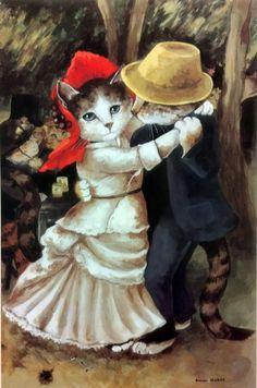 """""""Dancing at Bougival (Auguste Renoir)"""" par Susan Herbert"""