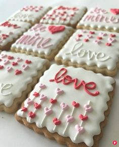 Soft and chewy, homemade sugar cookies iced with vanilla royal icing are always made to order to ensure freshness every time. Includes 1 dozen hand-decorated cookies, four of each kind of design. Valentine's Day Sugar Cookies, Homemade Sugar Cookies, Sugar Cookie Icing, Cut Out Cookies, Iced Cookies, Cute Cookies, Royal Icing Cookies, How To Make Cookies, Cupcake Cookies