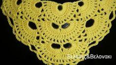 Πλεκτό σάλι ή κασκόλ - YouTube Crochet Blouse, Crochet Poncho, Love Crochet, Crochet Bikini, Crochet Designs, Crochet Patterns, Capes & Ponchos, Bolero, Knitting Videos