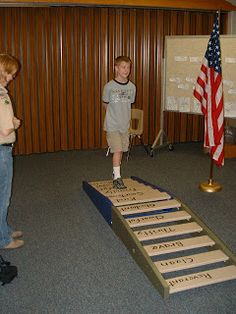 """Great idea for a """"crossing over"""" ceremony into 11 yr old scouts"""