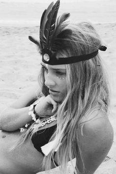 Feather girl #bikini #beach
