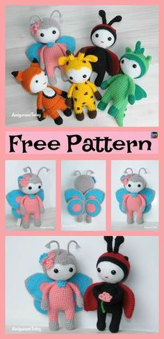 Amigurumi Crocheted Butterfly Doll – Free Pattern #freecrochetpatterns #crochetamigurumi #doll #butterfly #giftidea